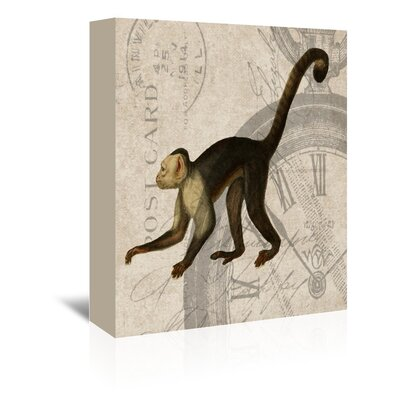 Americanflat Monkey Graphic Art Wrapped on Canvas