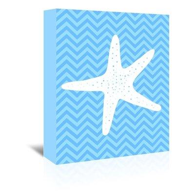 Americanflat Starfish Chevron Graphic Art on Canvas