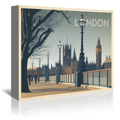 Americanflat London Walk Graphic Art Wrapped on Canvas