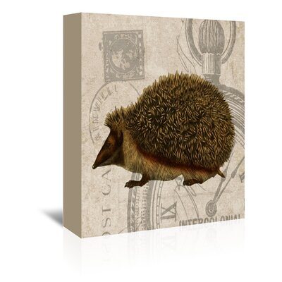 Americanflat Hedgehog Graphic Art Wrapped on Canvas