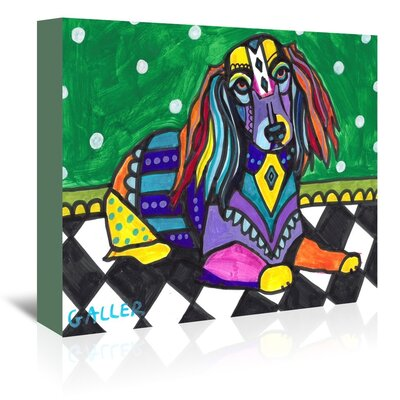 Americanflat Dachshunds Longhair Art Print Wrapped on Canvas
