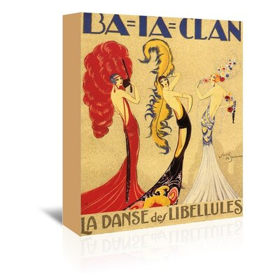 Americanflat Bataclan Vintage Advertisement Wrapped on Canvas