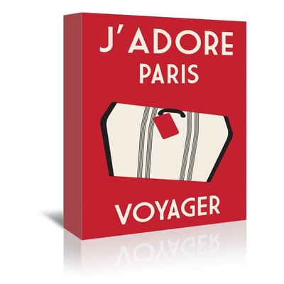 Americanflat J'Adore Paris, Voyage by Alan Walsh Graphic Art Wrapped on Canvas