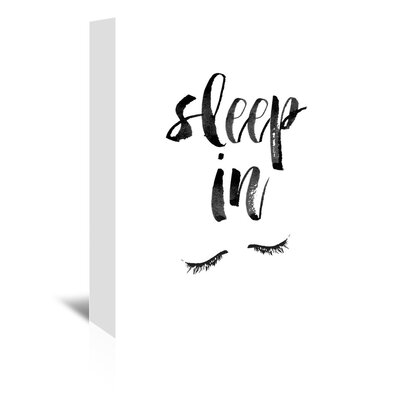 Americanflat Sleep in Typography Wrapped on Canvas