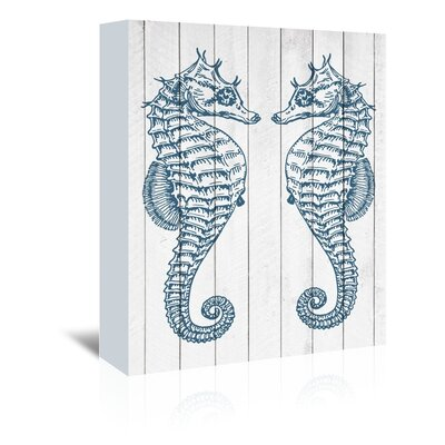 Americanflat Double Seahorse Graphic Art on Canvas