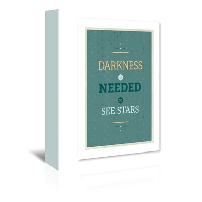 Americanflat Darkness Typography Wrapped on Canvas