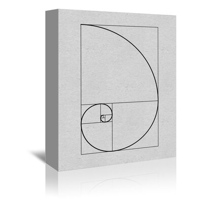 Americanflat Golden Spiral Graphic Art Wrapped on Canvas