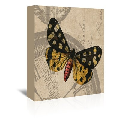 Americanflat Butterfly Graphic Art Wrapped on Canvas