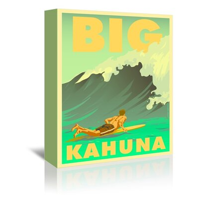 Americanflat Big Kahuna by Diego Patino Vintage Advertisement Wrapped on Canvas