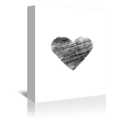 Americanflat Scribble Heart Graphic Art Wrapped on Canvas