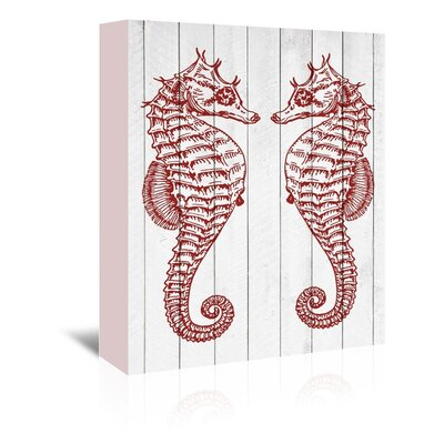 Americanflat Double Seahorse Graphic Art Wrapped on Canvas