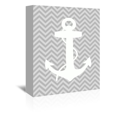 Americanflat Ocean Anchor Graphic Art Wrapped on Canvas