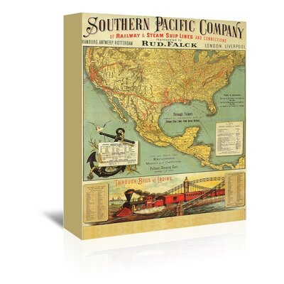 Americanflat Southern Pacific Vintage Advertisement Wrapped on Canvas