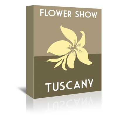 Americanflat Flower Show, Tuscany by Alan Walsh Vintage Advertisement Wrapped on Canvas