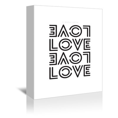 Americanflat Love Typography Wrapped on Canvas