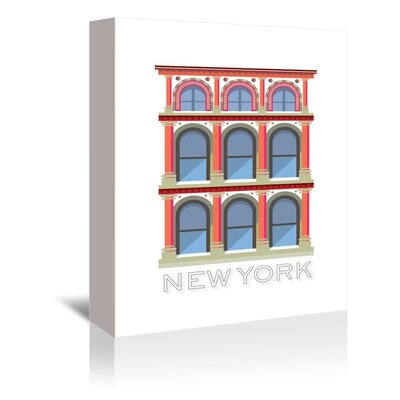 Americanflat New York Buildings Graphic Art Wrapped on Canvas