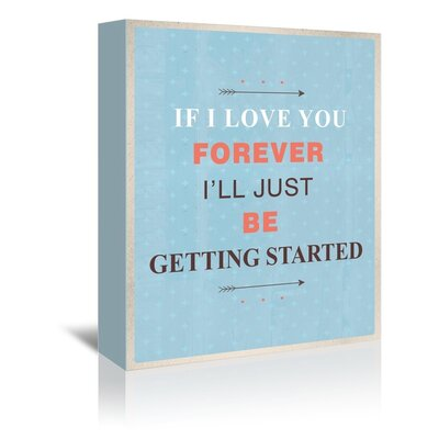 Americanflat Forever Love Typography Wrapped on Canvas