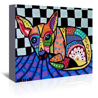 Americanflat Chihuahua Art Print on Canvas