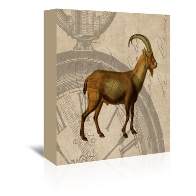 Americanflat Ibex Graphic Art Wrapped on Canvas
