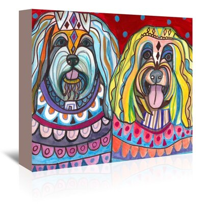 Americanflat Havanese Art Print Wrapped on Canvas
