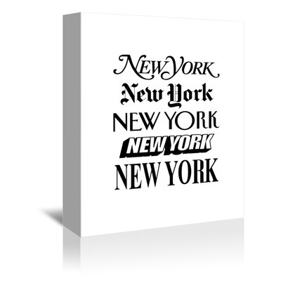 Americanflat New York Typography Wrapped on Canvas