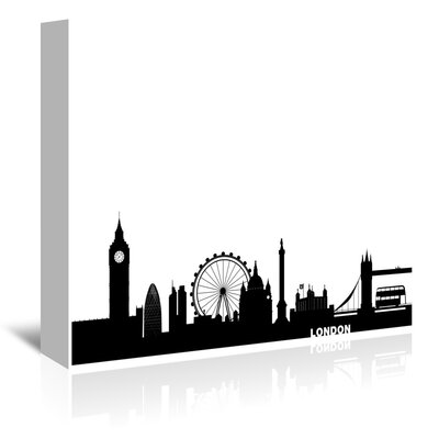 Americanflat London Cityscape Graphic Art Wrapped on Canvas