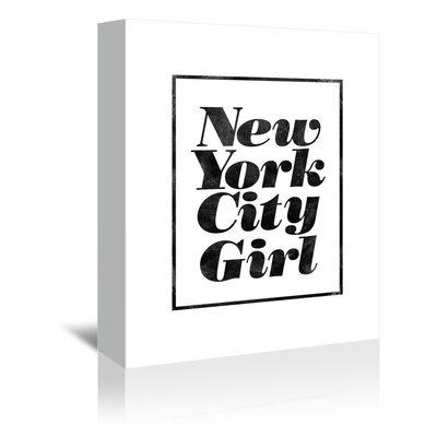 Americanflat New York City Girl Typography Wrapped on Canvas