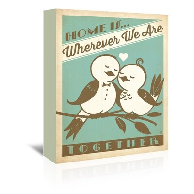 Americanflat Home is Wherever We Are Vintage Advertisement Wrapped on Canvas