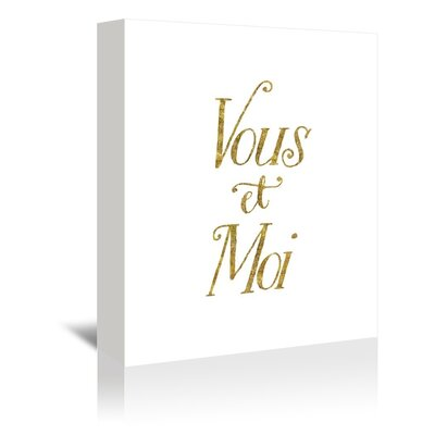 Americanflat Vous Et Moi Typography Wrapped on Canvas