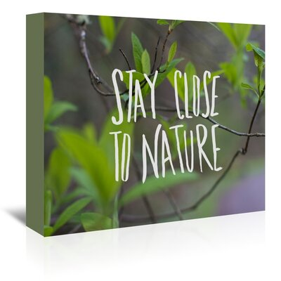 Americanflat Nature Graphic Art Wrapped on Canvas