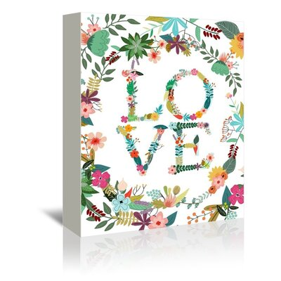 Americanflat 'Love Letter' by Mia Charro Graphic Art Wrapped on Canvas