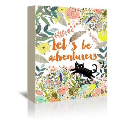 Americanflat Adventurers Graphic Art Wrapped on Canvas