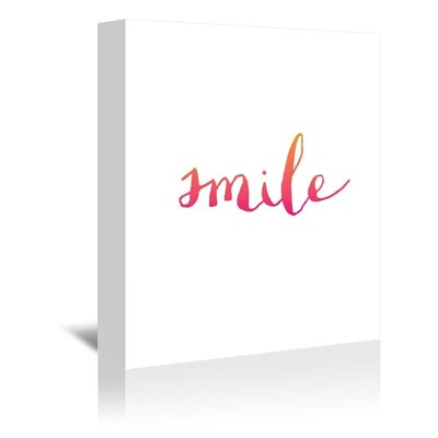 Americanflat Smile Typography on Canvas