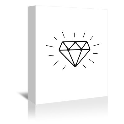 Americanflat Diamond Graphic Art Wrapped on Canvas