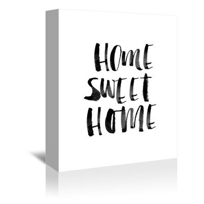 Americanflat Home Sweet Home Typography on Canvas