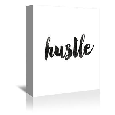 Americanflat Hustle Typography Wrapped on Canvas