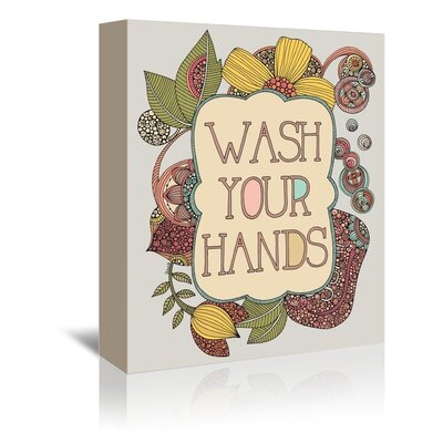 Americanflat Hand Wash Graphic Art Wrapped on Canvas
