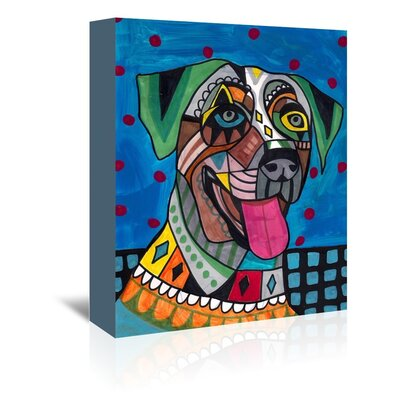 Americanflat Catahoula Art Print Wrapped on Canvas