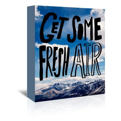 Americanflat Fresh Air Graphic Art Wrapped on Canvas