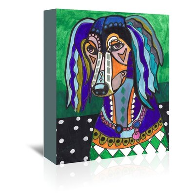 Americanflat Saluki Art Print Wrapped on Canvas