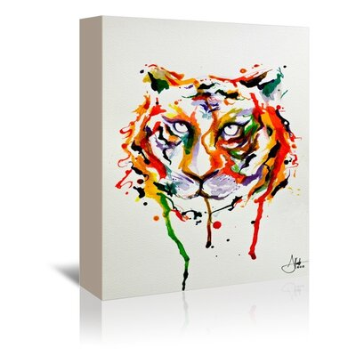 Americanflat Demeter Tiger Art Print Wrapped on Canvas