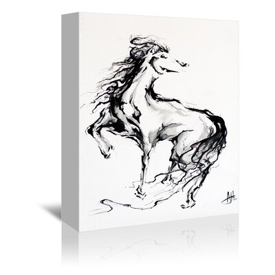 Americanflat Horse Graphic Art Wrapped on Canvas