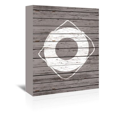 Americanflat Wooden Lifesaver Graphic Art Wrapped on Canvas