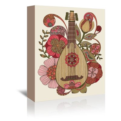 Americanflat Mandolin Graphic Art Wrapped on Canvas