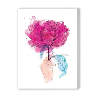 Americanflat Rose Art Print Wrapped on Canvas