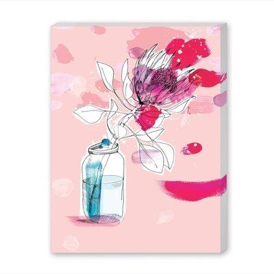 Americanflat Vast Flower Art Print Wrapped on Canvas