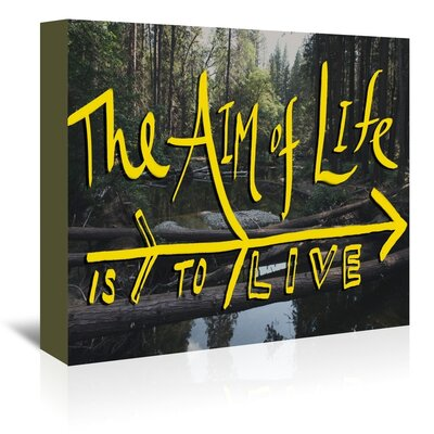 Americanflat Life's Aim Graphic Art Wrapped on Canvas