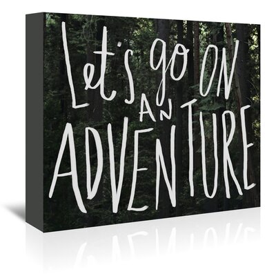 Americanflat Let's Go Graphic Art Wrapped on Canvas