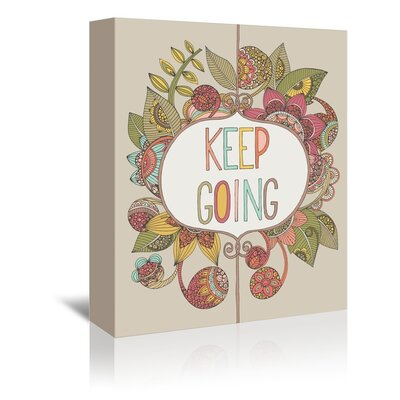 Americanflat Keep Going Graphic Art Wrapped on Canvas
