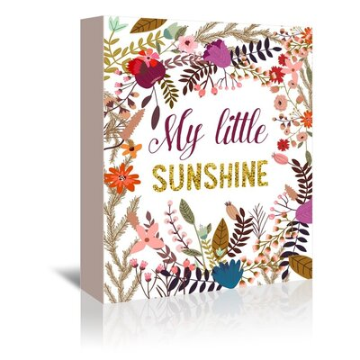 Americanflat 'My Little Sunshine' by Mia Charro Graphic Art Wrapped on Canvas